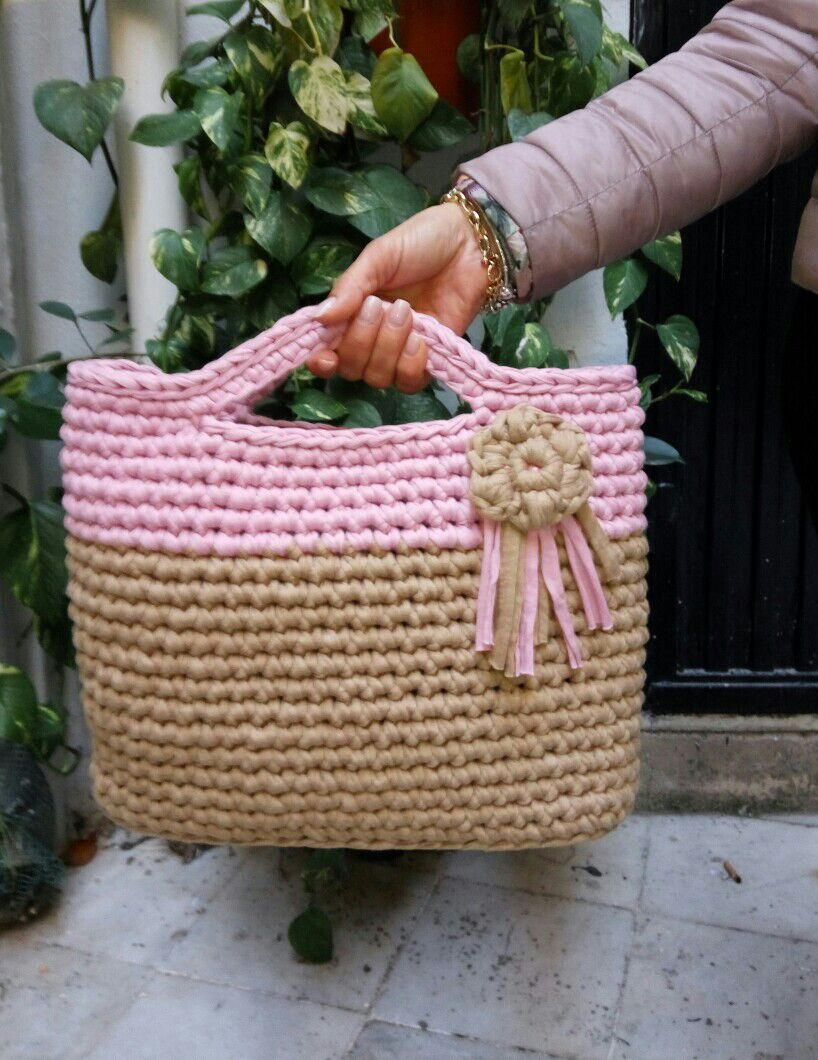 bolso rosas craft